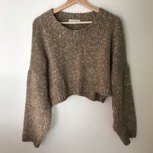 DON'T ASK WHY Cropped Sweater